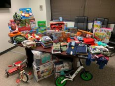MSB employees holiday toy drive